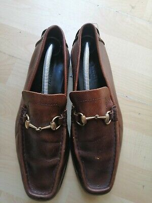 GUCCI LOAFERS HORSEBIT BROWN LEATHER SIZE 9 UK VGC