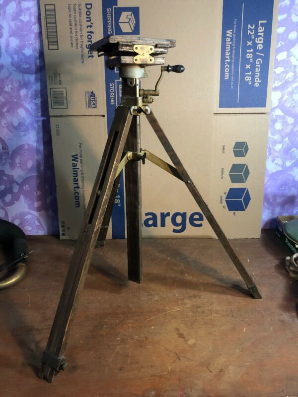 Rare Vintage Antique AGFA  WOODEN Camera TRIPOD