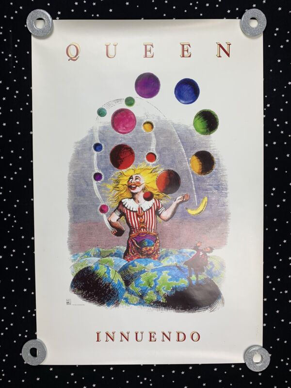 QUEEN Innuendo Poster 1991 Hollywood Records  Freddie Mercury Poster 27x18
