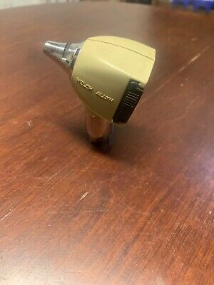 Vintage Welch Allyn Otoscope Head Model 240 Tan Made In Usa Tested Working