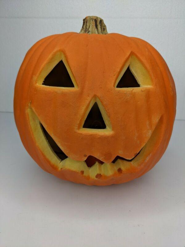 Vintage Gemmy Halloween Lighted Foam Blow Mold Pumpkin Jack O Lantern