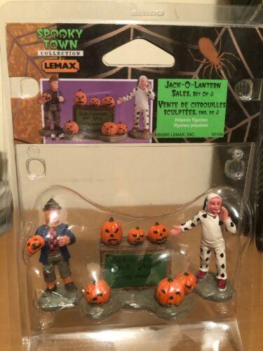 Lemax Spooky Town Jack-O-Lantern Sales #52104 Retired