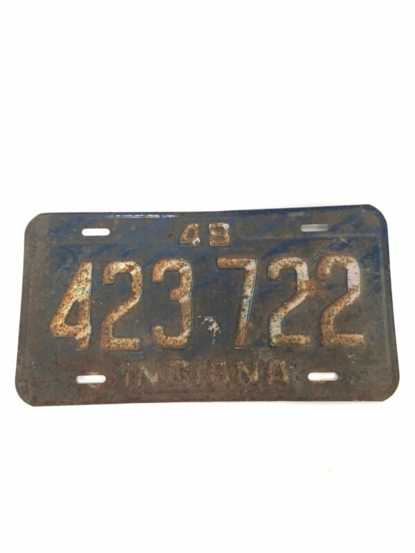 Indiana 1948 original license plate #423722