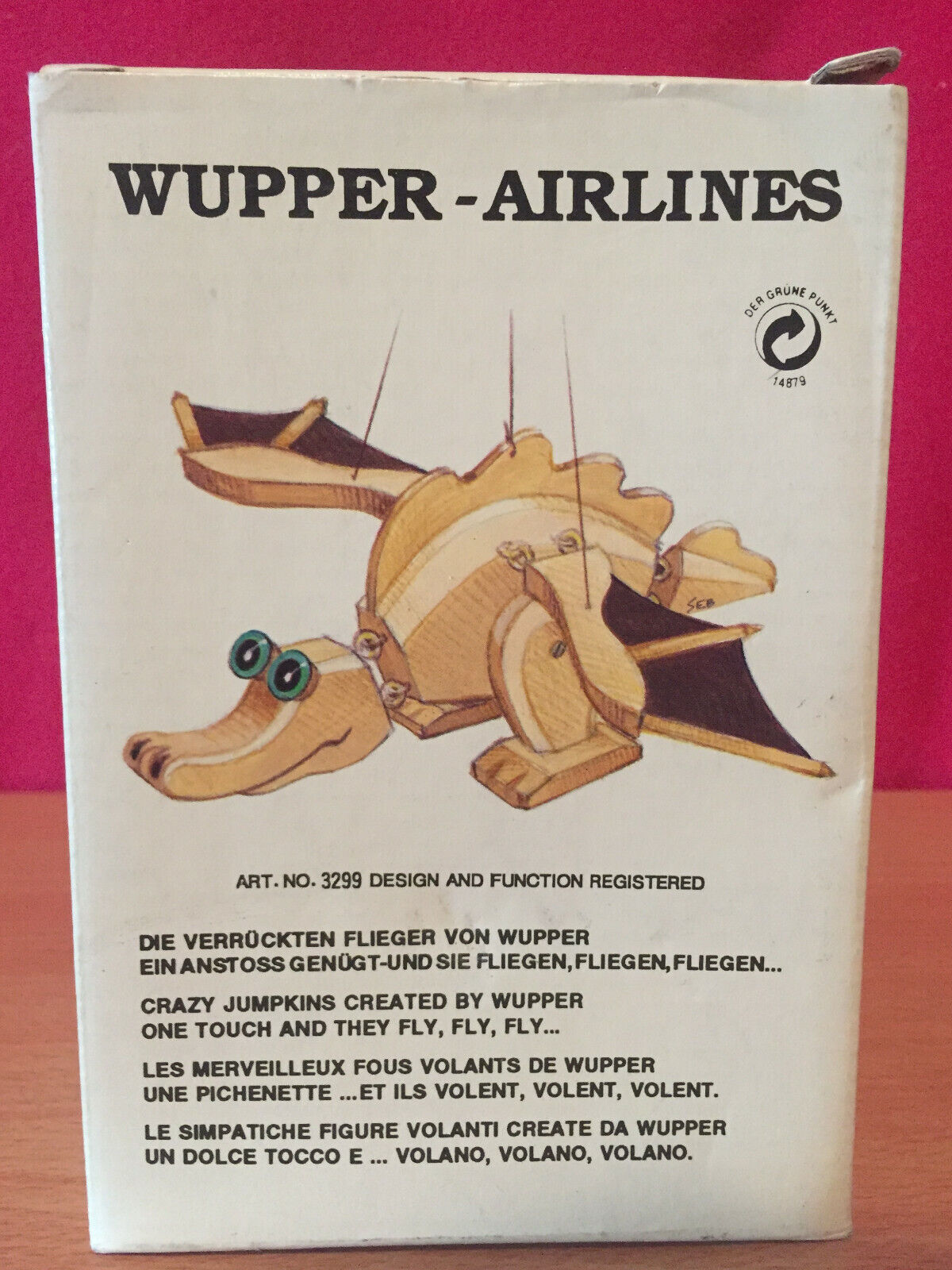 Details About Wupper Airlines Wooden Hanging Mobile Natural Dragon