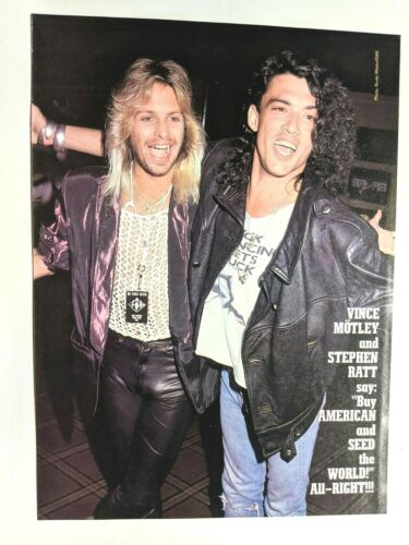 RATT / STEPHEN PEARCY & VINCE NEIL /  MAGAZINE FULL PAGE PINUP POSTER CLIPPING