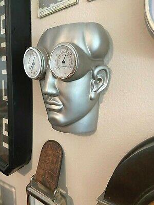 COOL Museum of Modern Life 3D MAN w/STEAMPUNK Goggles WALL ART Clock SCULPTURE