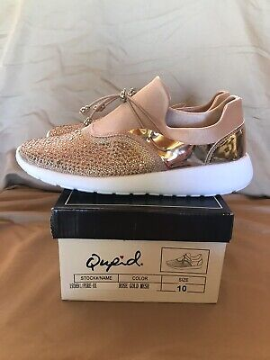 Brand New With Tags Qupid Rose Gold Color Tennis Shoes Gorgeous Women's Size 10