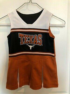 Girls Texas Longhorns Dress / Cheerleading Outfit & Bloomers Size 3T Cheerleader - Girls Cheerleading Outfit