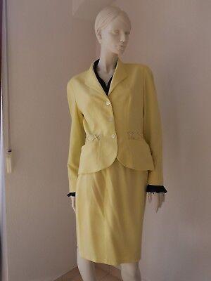 THIERRY MUGLER Kostüm, Elegant, sommerlich , Gr. 36, Rock, Blazer, Gelb