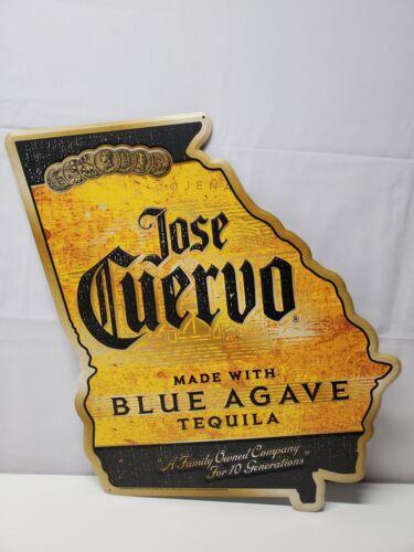 "Jose Cuervo Blue Agave Tequila-Yellow & Black Tin Sign-Georgia State-17"" x 20"""