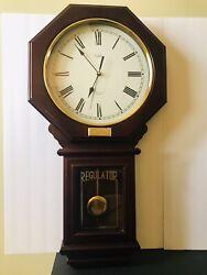 Vintage Versailles Quartz Pendulum 30 x 16 Wall Clock Westminister Chime (NF)