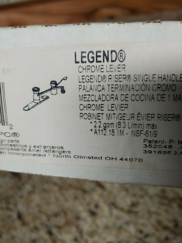 NEW MOEN 7345 Legend Riser Single Handle Chrome Kitchen Faucet