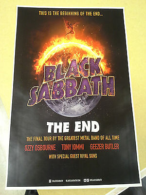 Black Sabbath 11x17 The End tour concert poster Ozzy Osbourne tickets