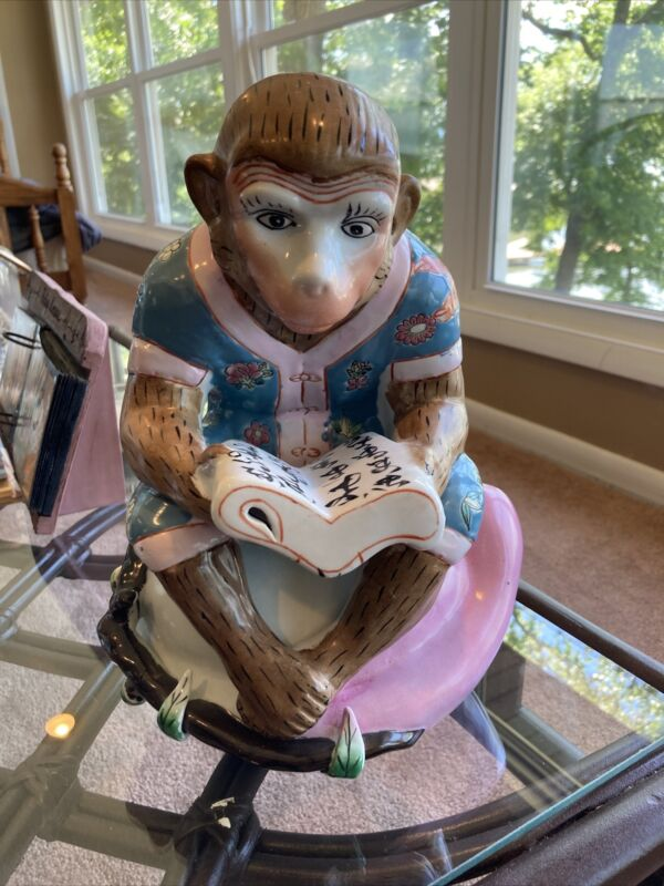 pre owned chinese monkey statue