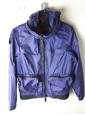 Vintage Womens Burberry Sport Purple Hooded Rain Jacket Size Small