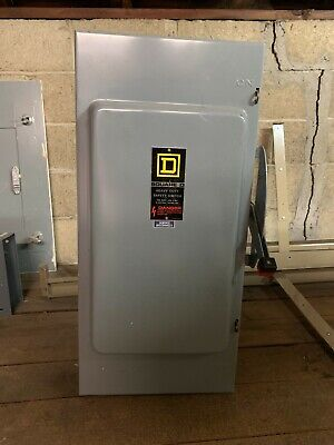 Square D H-324-n Series E1 Heavy Duty Safety Switch 200a 240vac Type 1 3 Phase