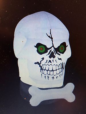 Last  New Gemmy Halloween 6 1/2' Gotham Skull Lighted Airblown/Inflatable Decor