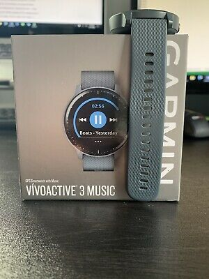 Garmin vivoactive 3 music gps smartwatch USED with Charger, Box And Manual