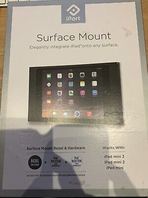 iPort Surface Mount Black for iPad Mini 1, 2 & 3 with PoE injector