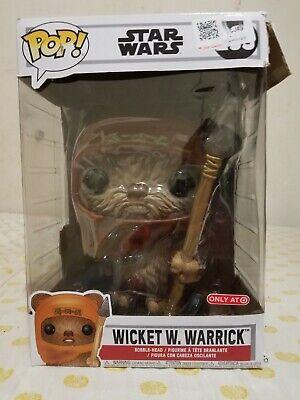 "Funko Pop! Star Wars 10"" Wicket W. Warrick #293 Target Exc 10 inch Vinyl Figure"