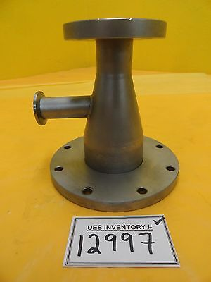 Edwards High Vacuum Conical Reducer Tee Iso40 Iso-f To Iso100 Iso-f Nw25 Used