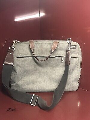 Jack Spade waxed canvas Briefcase/Bag Olive/brown. USED
