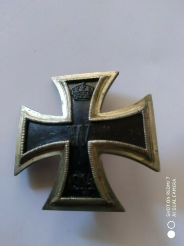 WW1 German iron cross first class convex.