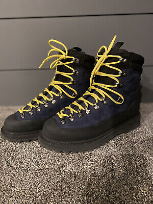 DIEMME Men's EVEREST Navy Leather Made in Italy Hiking Boots Sz EU 41 US 8.5