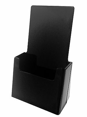 Qty 24 Black Tri Fold Literature Brochure Holder 4x9 Acrylic Display Made Usa