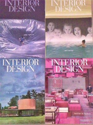 INTERIOR DESIGN MAGAZINE Lot 4 Issues Jan 2018 -Apr 2018