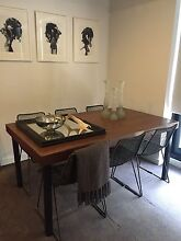 SHOWROOM TIMBER DINING TABLE & ART CHAIRS Brighton Bayside Area Preview