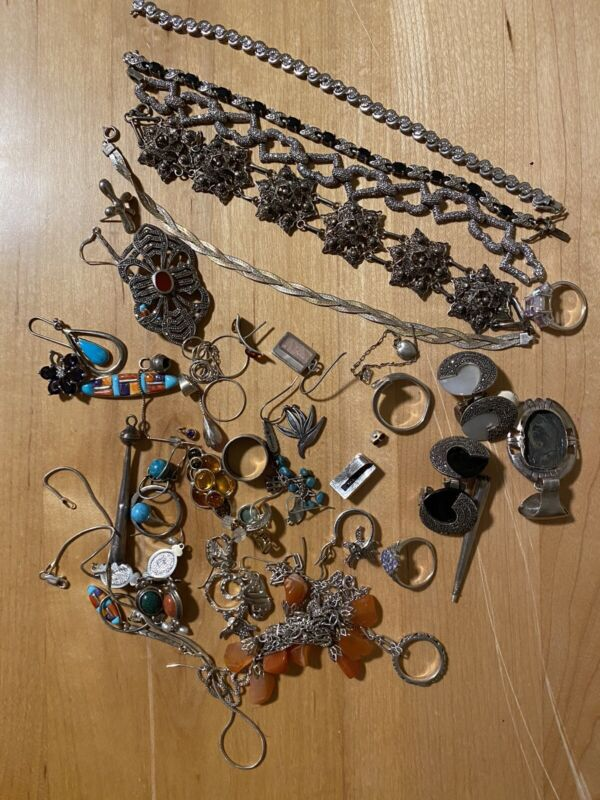 Sterling Silver Mixed Jewelry Scrap Lot