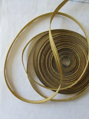 "UNUSED Vintage Antique French Gold Metallic Trim 3/16"" Military Lace"