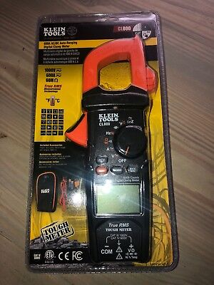 Klein Tools Digital Auto-ranging Clamp Meter Acdc True Rms Cl800 New