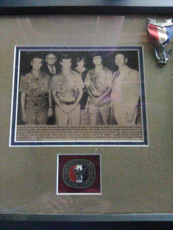 Eagle scout medal. Prather family united Methodist church indiatlantic Fl