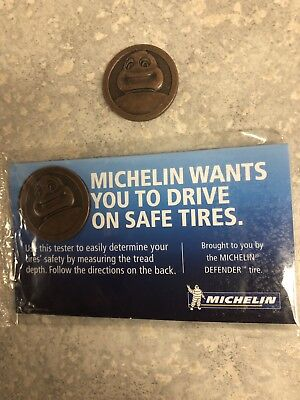 Michelin Man Test Gauge Tire Depth Coin New In Package ()