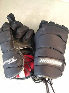 Adult large Lacrosse gloves and elbow pads