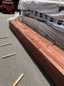 New jarrah timber decking 85 mm by 20
