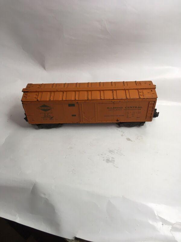 AMERICAN FLYER VINTAGE ILLINOIS CENTRAL Orange Painted BOX CAR