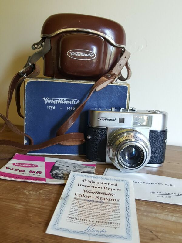 VOIGTLANDER VITO BR RANGEFINDER CAMERA WITH CASE VINTAGE BOX PAPERS Germany
