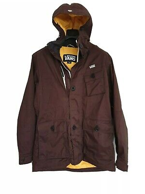 VANS Mens Jacket Hooded Tracking Cycling Weatherproof Adventure Wine Colour L