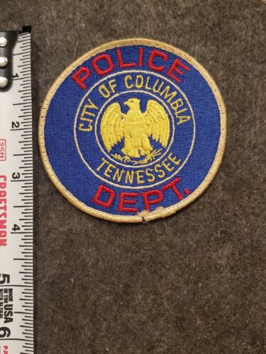 Vintage Columbia Police Patch - Tennessee - Cheesecloth Back