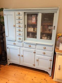 Retro Vintage Kitchen Cabinet (duck egg blue)