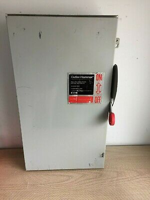 Cutler Hammer Dh364nrk 200 Amp 600 Volt Fused Outdoor Disconnect..d-157