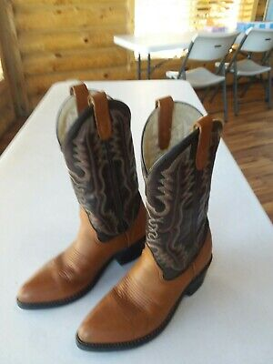 Mens Double H all leather Western/Cowboy boots 7.5 D