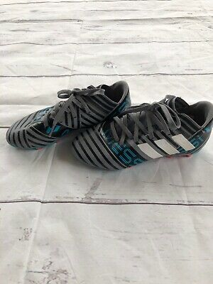 424b71fe318 Kids Adidas Messi 17.3 Fg Size 1 Soccer Cleats Black Grey Blue