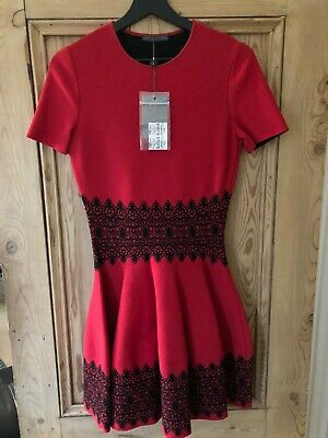 Alexander McQueen Red & black Red Skater dress