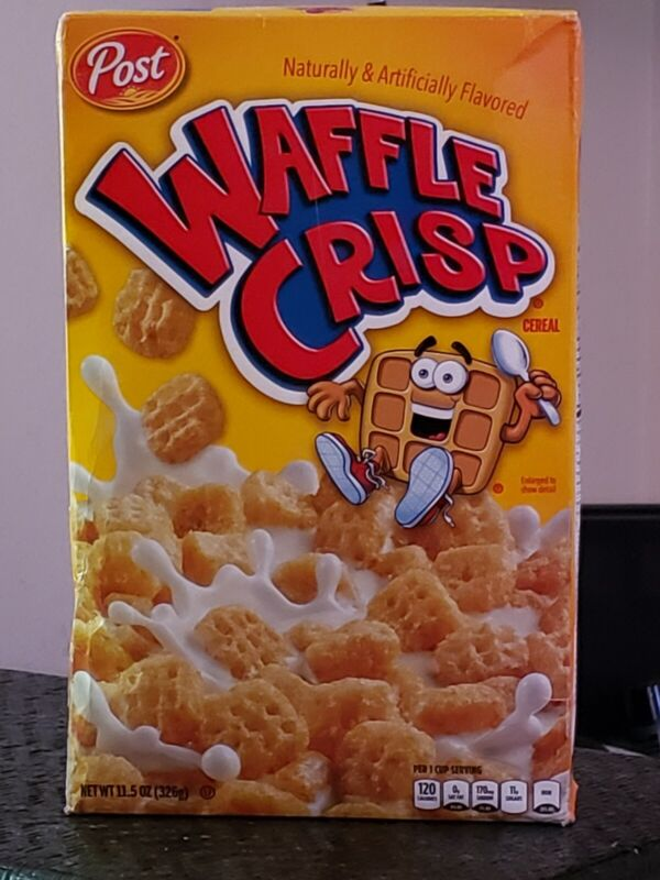 Post Waffle Crisp Cereal- Waffle & Syrup Flavor! Unopened