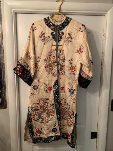 Antique Vintage Silk Kimono Robe Japanese Chinese Asian