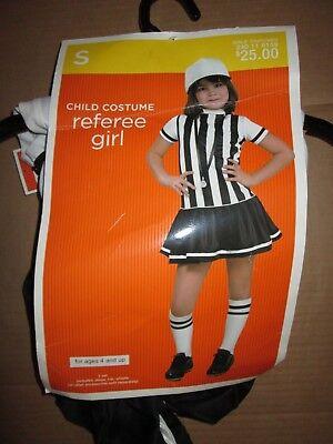 Girls REFEREE REF Halloween Costume sz  S Sm 4 - 6 NWT